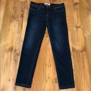 Free People Stretch Skinny Cropped Jeans